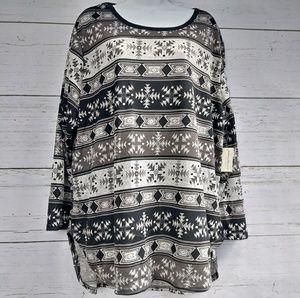 ⬇ Bobbie Brooks Hi-Low Tunic sweater Top